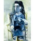 Picasso Pablo - Jacqueline seduta su sedia a rotelle. Stampa su tela