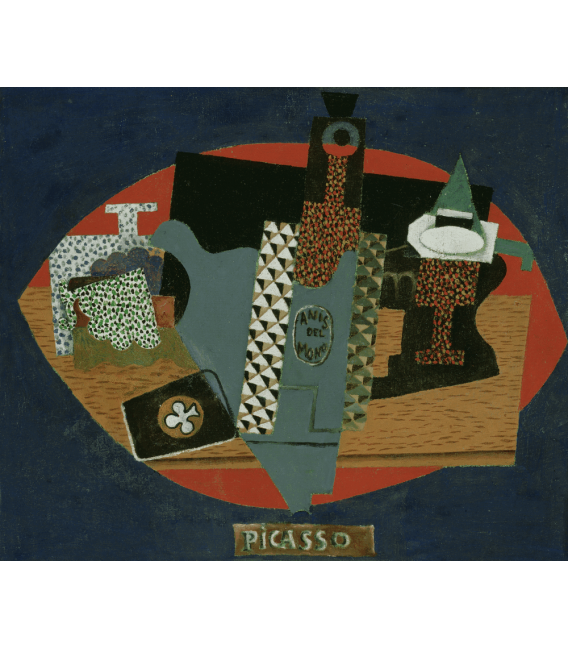 Printing on canvas: Pablo Picasso - The bottle of Anis del Mono