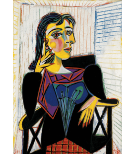 Picasso Pablo - Celestina, la donna ha il cuscino. Stampa su tela