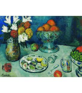 Picasso Pablo - Il dessert di Barcellona. Stampa su tela