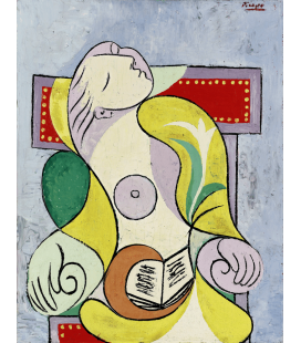 Printing on canvas: Pablo Picasso - Reading.