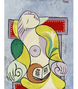 Picasso Pablo - La Lettura. Stampa su tela