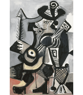 Printing on canvas: Pablo Picasso - Guitar