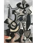 Stampa su tela: Picasso Pablo - La Guitare