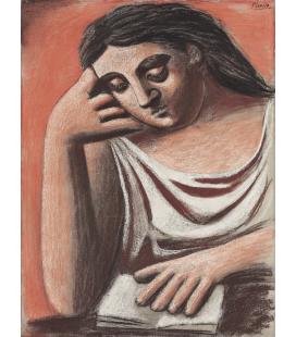 Picasso Pablo - Il lettore. Stampa su tela