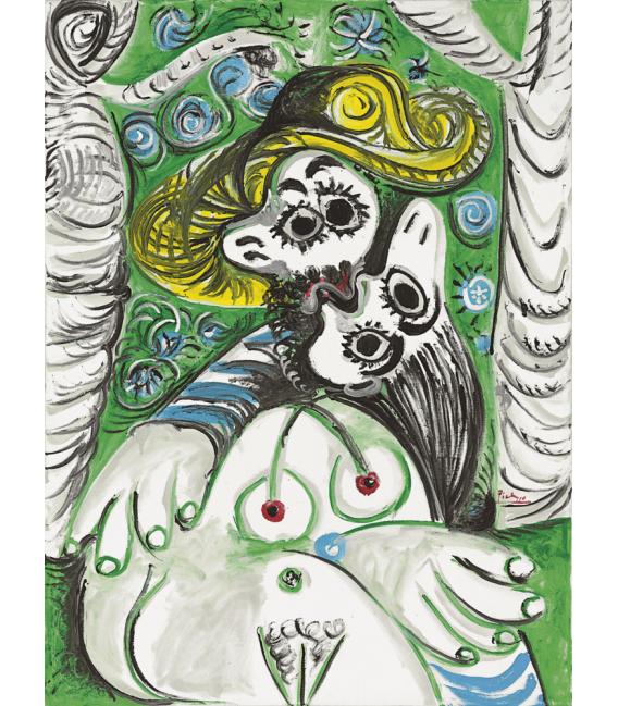Stampa su tela: Picasso Pablo - Le baiser