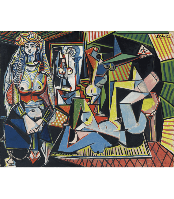 Stampa su tela: Picasso Pablo - Le donne di Algeri