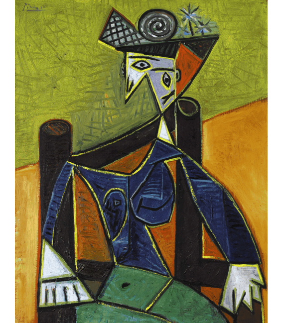 Printing on canvas: Pablo Picasso - Woman sitting in an armchair