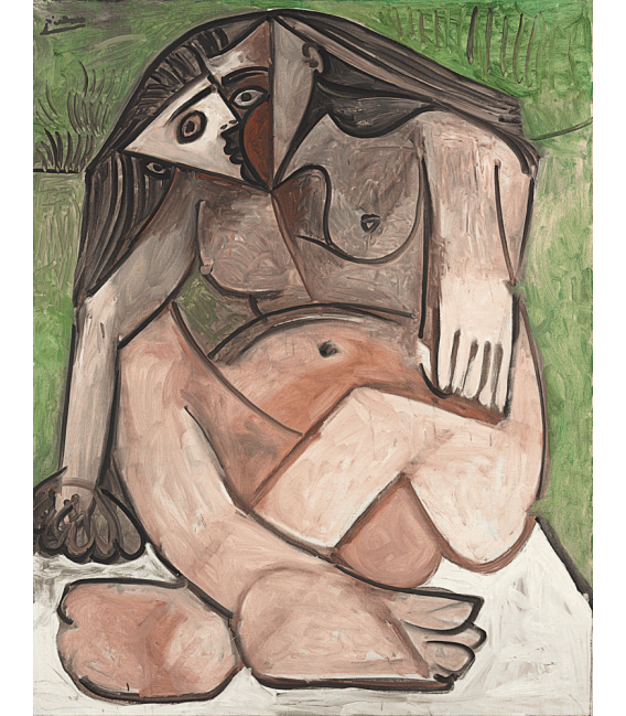 Printing on canvas: Pablo Picasso - Nude crouched