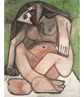 Pablo Picasso - Nude crouched