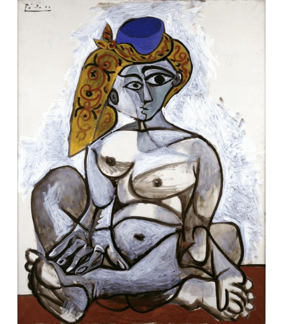 Stampa su tela: Picasso Pablo - Nudo berretto turco