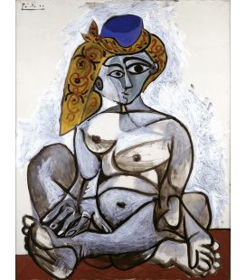 Printing on canvas: Pablo Picasso - Nude in a Turkish Hat