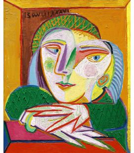 Picasso Pablo - Dipinto di Amanti Appassionati. Stampa su tela