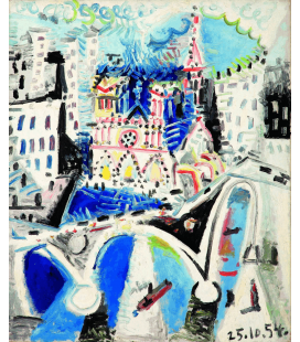 Picasso Pablo - Notre Dame de Paris. Stampa su tela