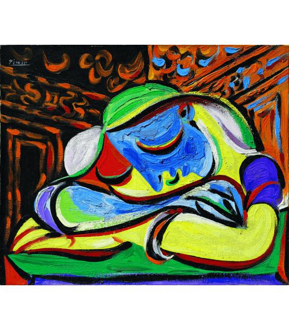 Stampa su tela: Picasso Pablo - Ragazza che dorme