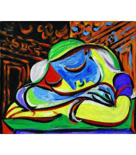 Printing on canvas: Pablo Picasso - Girl sleeping