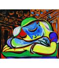 Picasso Pablo - Ragazza che dorme. Stampa su tela