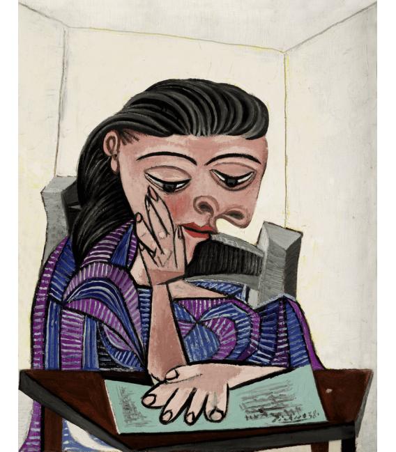 Stampa su tela: Picasso Pablo - Ragazza che legge
