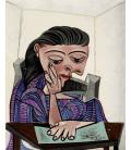 Picasso Pablo - Ragazza che legge. Stampa su tela