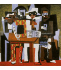 Printing on canvas: Pablo Picasso - Three Musicians