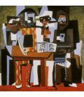 Stampa su tela: Picasso Pablo - Tre Musicisti