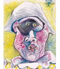 Picasso Pablo - Testa di Arlecchino II. Stampa su tela