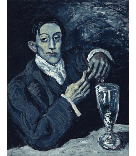 Stampa su tela: Picasso Pablo - Ritratto di Angel Fernandez de Soto (Il bevitore di assenzio)