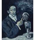Printing on canvas: Pablo Picasso - Portrait of Angel Fernandez de Soto (The Absinthe Drinker)