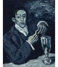 Picasso Pablo - Ritratto di Angel Fernandez de Soto (Il bevitore di assenzio). Stampa su tela