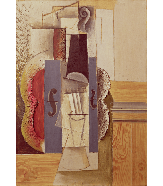 Printing on canvas: Pablo Picasso - Violin hanging from the wall