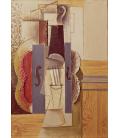 Picasso Pablo - Violino che pende dal muro. Stampa su tela