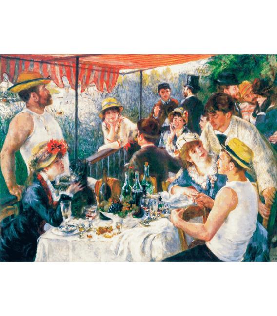 Stampa su tela: Pierre-Auguste Renoir - La Colazione dei Canottieri