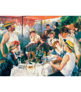 Printing on canvas: Pierre-Auguste Renoir - Breakfast of Rowing