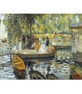 Pierre-Auguste Renoir - La Grenouillère. Stampa su tela