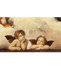 Stampa su tela: Raffaello Sanzio - Amorini Madonna Sistina