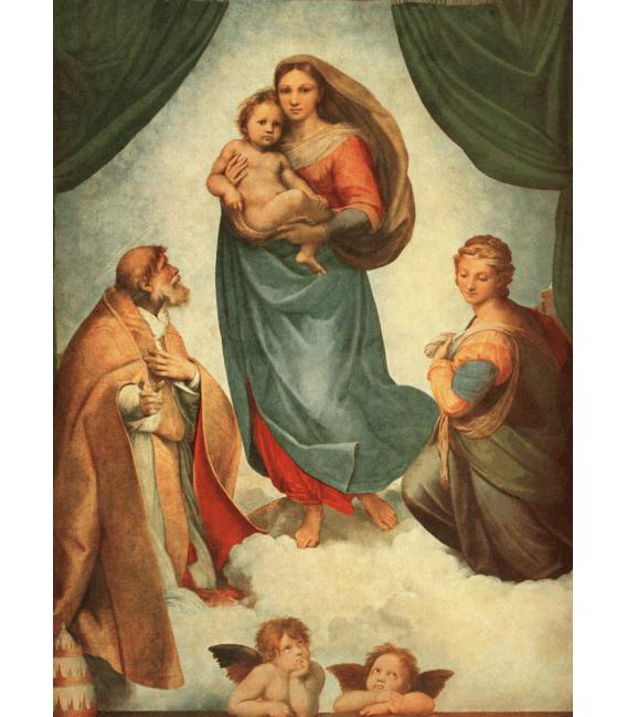 Printing on canvas: Raphael - The Sistine Madonna