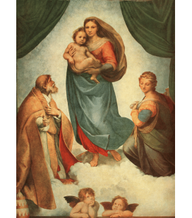 Raphael - The Sistine Madonna. Printing on canvas