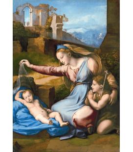Stampa su tela: Raffaello Sanzio - Madonna del Diadema Blu