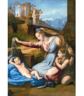 Raphael - Madonna of the Blue Diadem. Printing on canvas