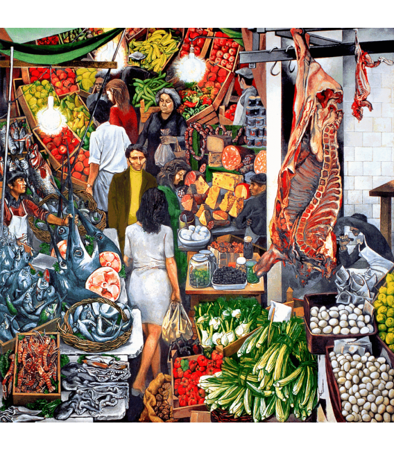 Printing on canvas: Renato Guttuso - Vucciria 1974