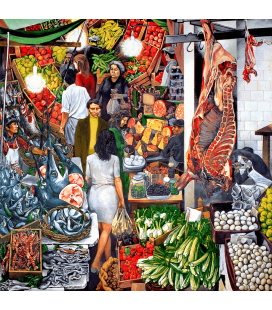 Renato Guttuso - Vucciria 1974. Printing on canvas