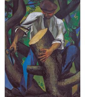 Renato Guttuso - Il boscaiolo. Stampa su tela