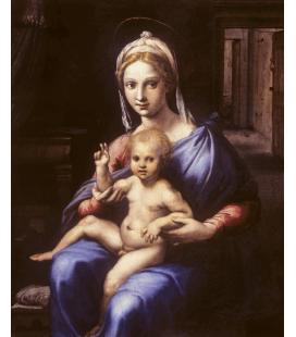 Stampa su tela: Giulio Romano - Madonna col Bambino