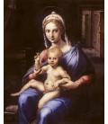 Printing on canvas: Giulio Romano - Madonna and Child