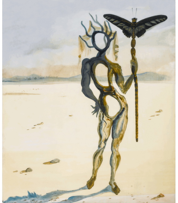 Printing on canvas: Salvador Dalí - Crisalida (Figure with the horns)