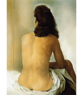 Printing on canvas: Salvador Dali - Gala naked from behind looking into a mirror invisible