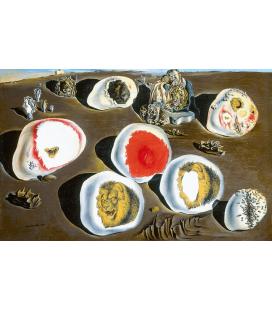 Stampa su tela: Salvador Dalí - Gli accomodamenti del desiderio