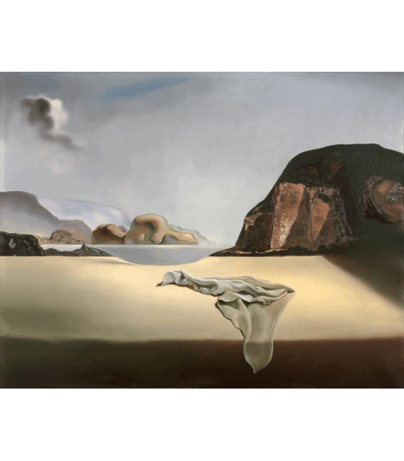 Stampa su tela: Salvador Dalí - Il simulacro trasparente della finta