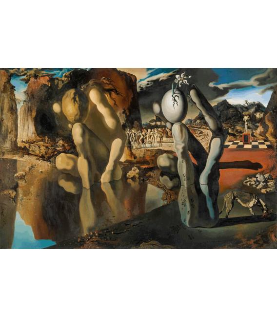 Stampa su tela: Salvador Dalí - Metamorphosis of Narcissus