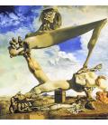 Salvador Dalí - Morbida costruzione con fagioli bolliti premonizione di guerra civile. Stampa su tela